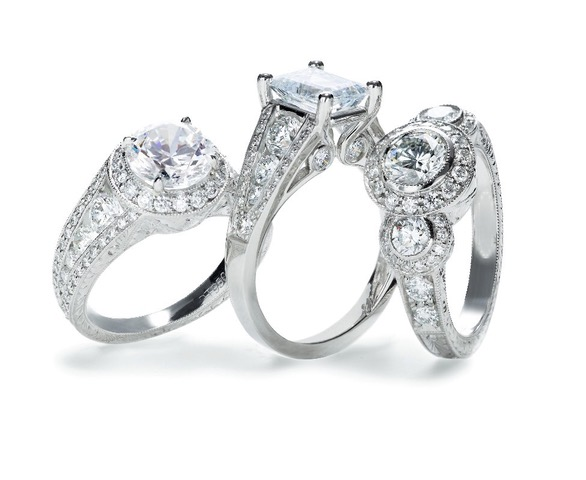 921149876 Photo courtesy of Simms Jewelers. Engagement and Wedding Ring ...